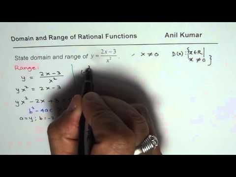 Domain and Range of a Rational Function