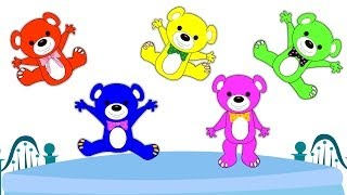 Five Little Teddy Bears Nursery Rhyme \ kids songs