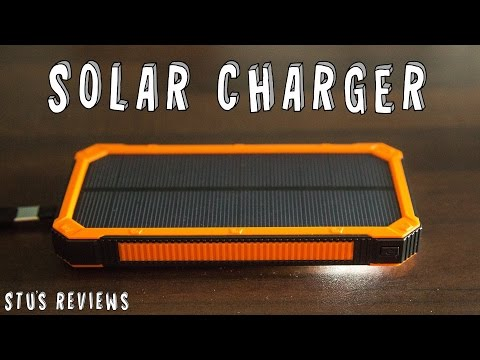 Solar Power Battery Bank | QCY Solar Phone Charger | Review