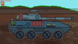 Военные Машинки. Колесный танк. Мультик пазл.  Combat Vehicle