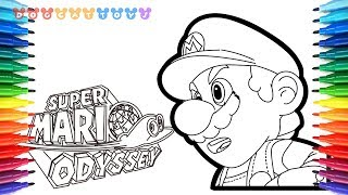 How to Draw Mario Odyssey, Super Mario #57 | Drawing Coloring Pages for Kids