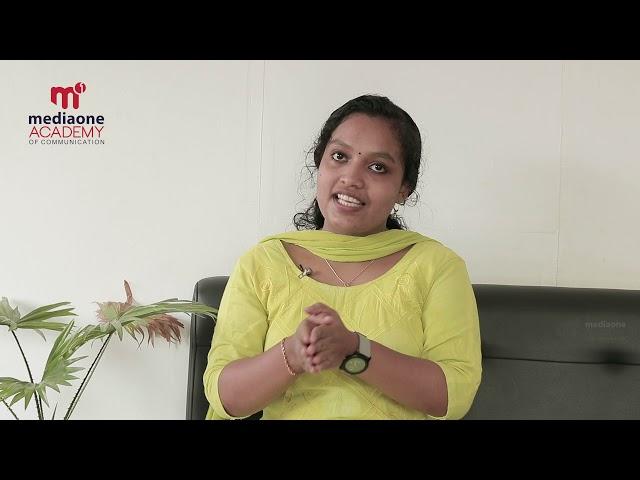 Testimonial Video   Josna Seleena Joseph   Mediaone Academy