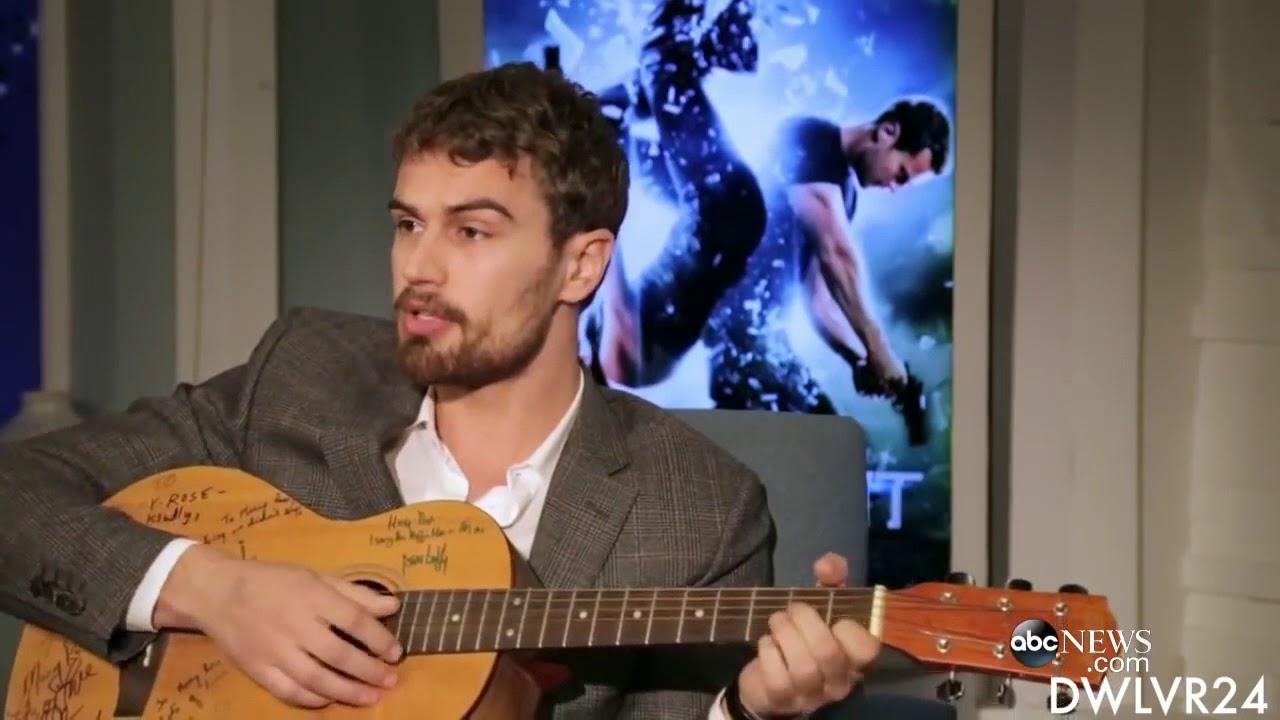 Tobias divergent SINGING KPOP (Theo James guitar skills)
