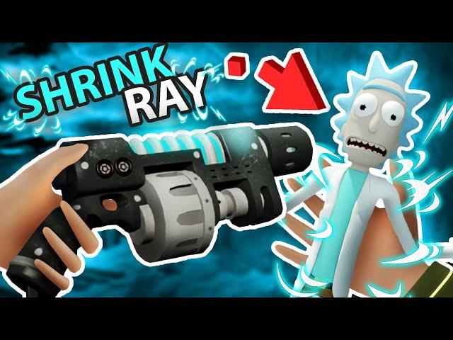 RICK'S NEW SHRINK RAY! TOP SECRET ITEM UNLOCKED!!?! (Rick and Morty VR Mods)