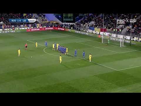 România U21 - Liechtenstein 2-0, un gol superb marcat de Ianis Hagi din lovitură liberă!