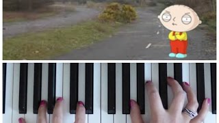 INCREDIBLE HULK Sad Walk Away Song (Stewie Griffin) | Easy PIANO Tutorial