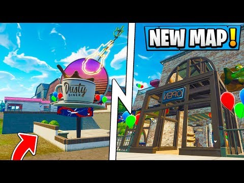 *NEW* Fortnite 5.4 Map Changes! | Dusty Diner, Tilted Towers Sports Store!