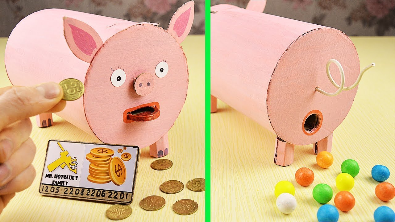 Diy Piggy Bank With Credit Card