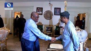 Gbajabiamila Visits Wike Over NASS Leadership