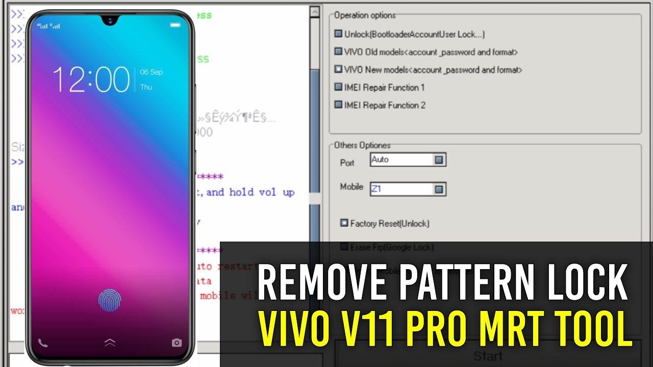 REMOVE PATTERN LOCK VIVO V11 PRO MRT TOOL