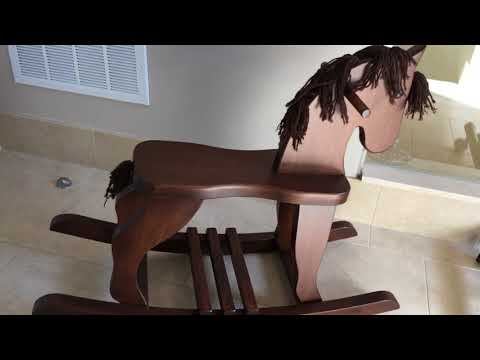 Solid Wood Rocking Horse for Children
