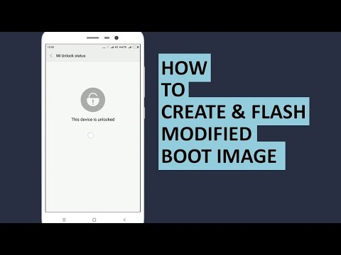 How to create and flash a modified boot image