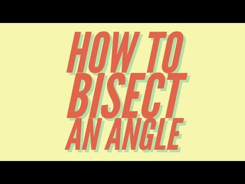How to Bisect an Angle (SIMPLE TUTORIAL)