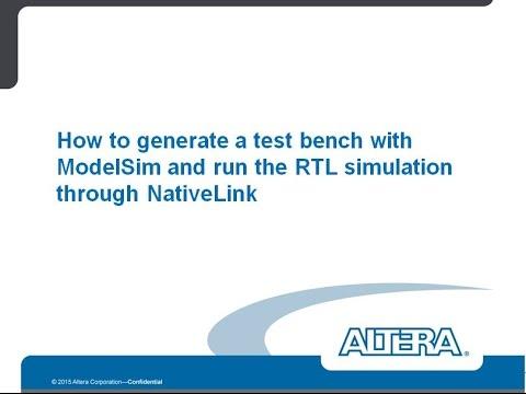 modelsim test bench simulation dating
