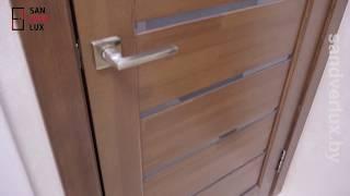 Обзор межкомнатной двери из массива сосны Модель 2 стекло мателюкс, Вудрев - Sandverlux.by
