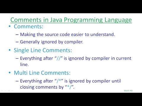 Java Beginners Tutorials Urdu/Hindi#7 Types of Comments in Java