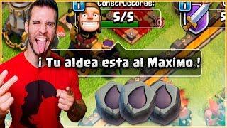 EL FIN DE MI ALDEA TH 12 - TODO MAX en CLASH OF CLANS