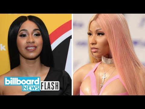 nicki-minaj-congratulates-cardi-b-on-'bodak-yellow'-topping-hot-100-|-billboard-news-flash