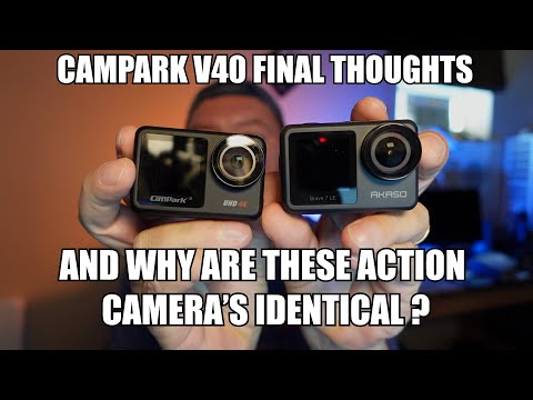 Campark V40 final thoughts & why these action cameras look alike