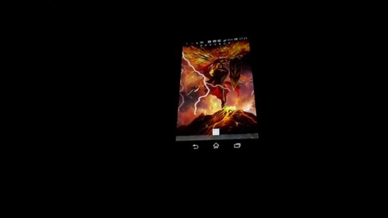 Fire Angel 3d Live Wallpaper Android With Motion Sensor Youtube