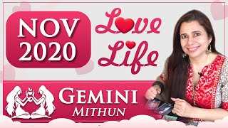 Gemini Love Tarot Reading | Nov 2020 | मिथुन राशि लव लाइफ़ | Relationship Monthly Tarot Reading