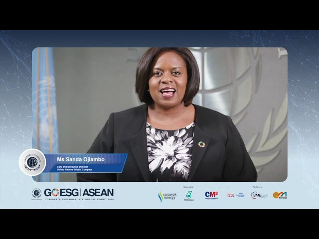 Day 2:Opening Remarks by Ms Sanda Ojiambo, CEO and Executive Director, United Nations Global Compact