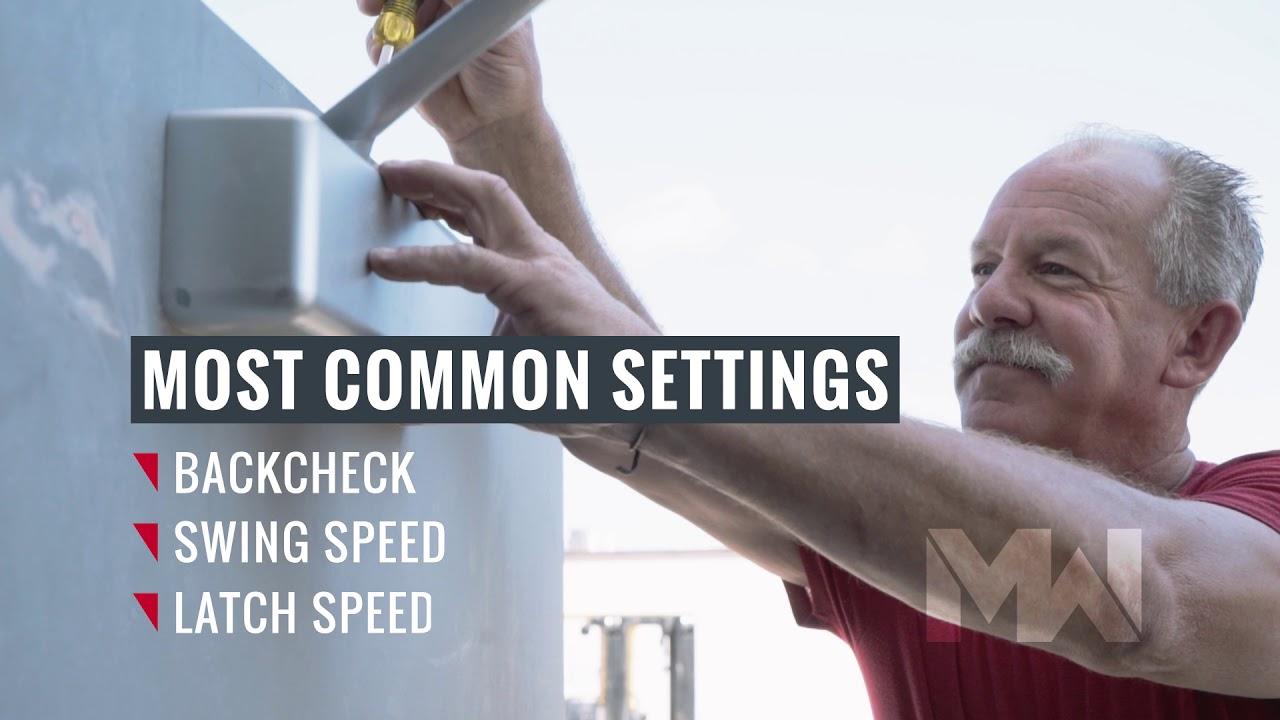 Repair Corner: Door Closer Adjustment | Midwest Door & Hardware