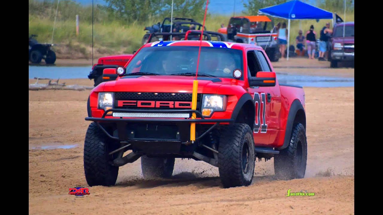 The general lee ford raptor silver lake sand dunes - YouTube