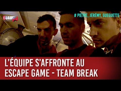 L'équipe s'affronte au Escape Game - Team Break - C'Cauet sur NRJ