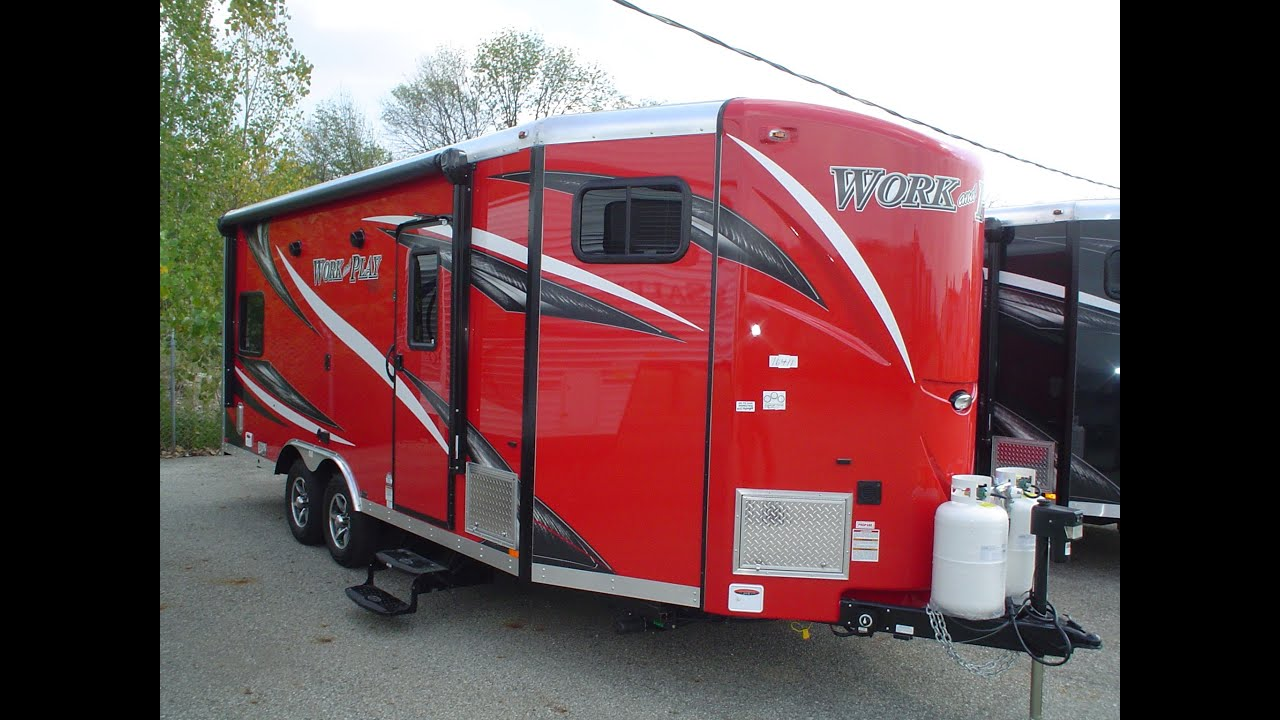 Work And Play Toy Hauler >> NEW 2016 Work and Play 21VFB | Mount Comfort RV - YouTube