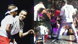 CHRIS BROWN catches LITTLE BOY on Stage AFTER he FAINTS (FULL VIDEO)