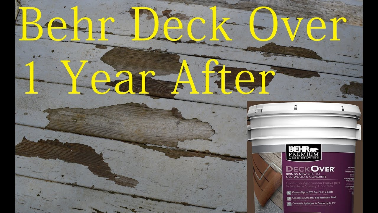 Behr Deck Over Paint Review After 1 Year Youtube