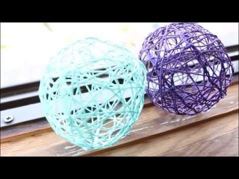 Diy Decor Balls Captivating Diy Stringyarn Balls  Youtube Design Decoration