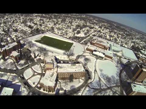 Providence College Winter from Above
