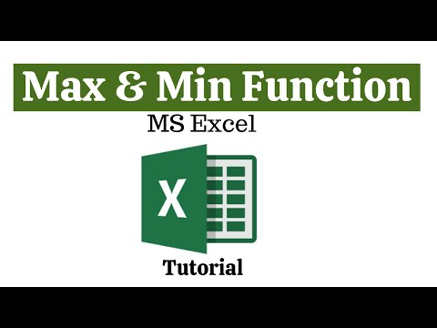 Max And Min Function/Formula MS Excel-Tutorial