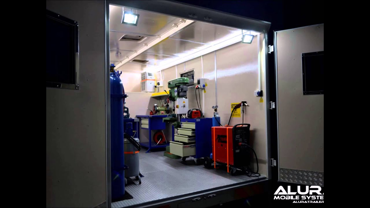 Mobile workshop trucks alura trailer youtube for Rv workshop