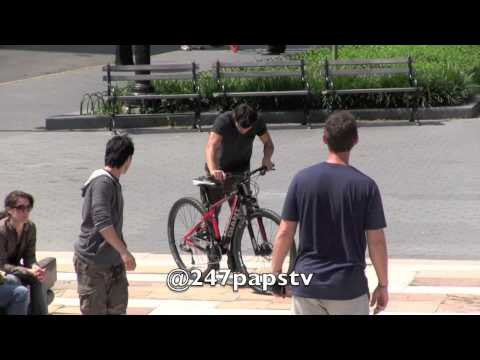 Taylor Lautner Filming on Riverside Park in NYC (06-19-13)