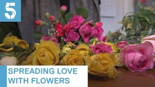 Florist spreads Valentine's Day love with unwanted supermarket flowers | 5 News