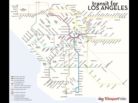 Los Angeles metro rail station map of the future