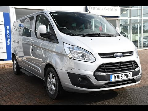 Used Ford Transit Connect >> Used Ford Tourneo Custom 9 seat Titanium Moondust Silver 2015 - YouTube