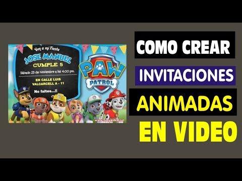 Crear Video Invitaciones Animadas Gratis Mega Idea