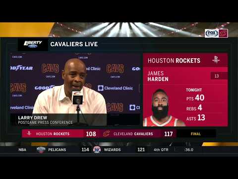 Larry Drew full postgame press conference after Cavs' beat Rockets for second straight win