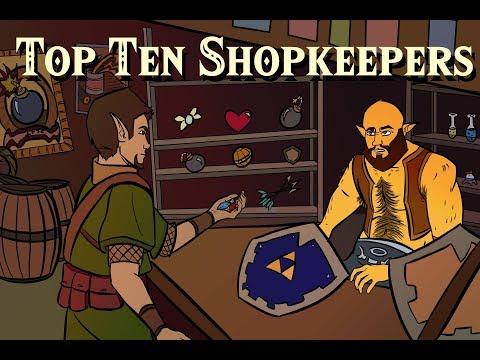 Top Ten Video Game Shopkeepers