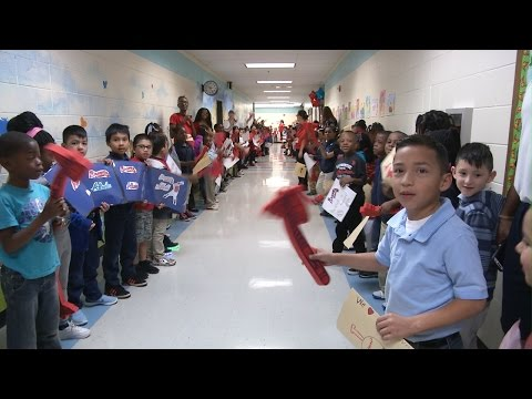 Braves Pep Rally At Riverside Primary