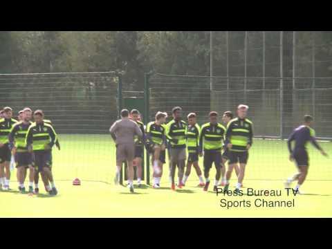 Arsenal Training pre Arsenal vs Ludogorets