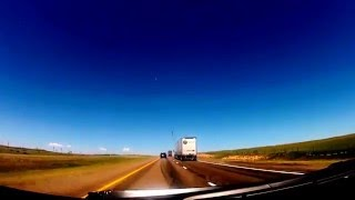 Driving from Cheyenne to Laramie, Wyoming on I80