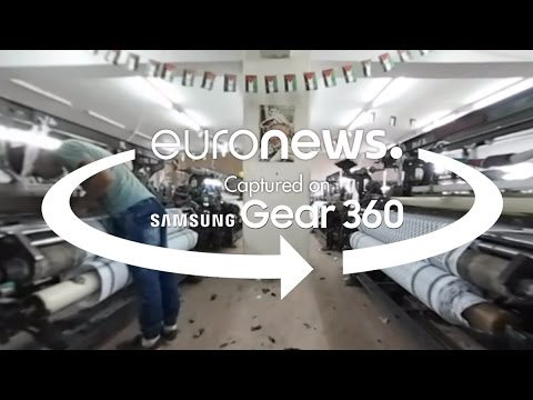 [360° video] Inside the West Bank's last keffiyeh factory