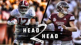 Head to Head: Alabama vs. Mississippi State