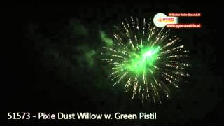 "Pyro Austria - 51573 - 4"" Pixie Dust Willow w. Green Pistil"