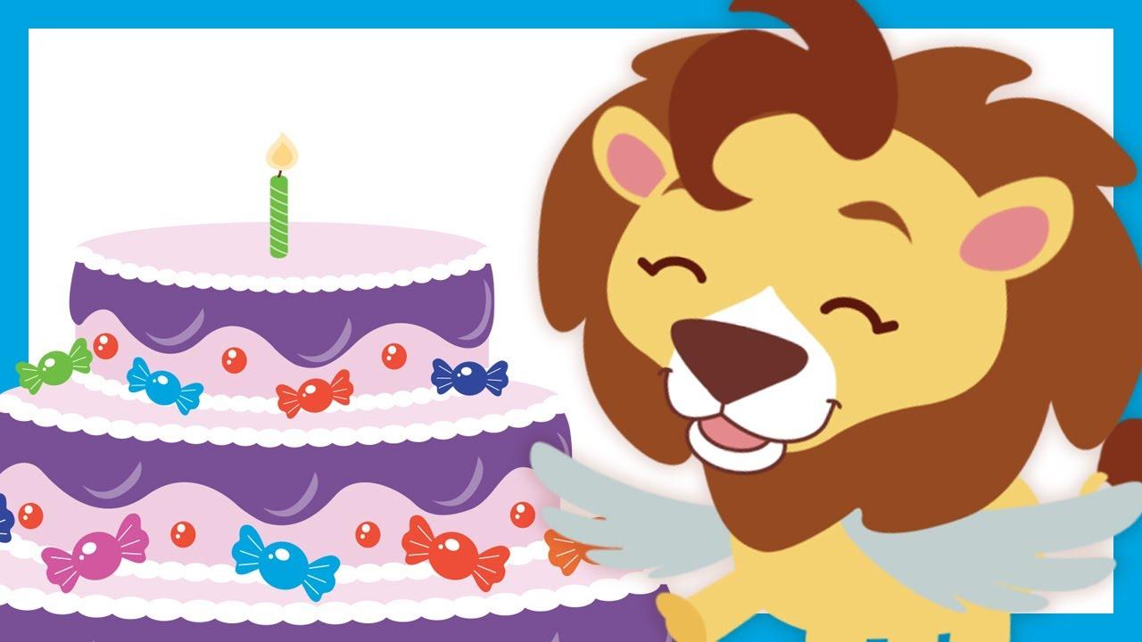 Feliz Cumpleaños Canciones Infantiles Leoncito Alado